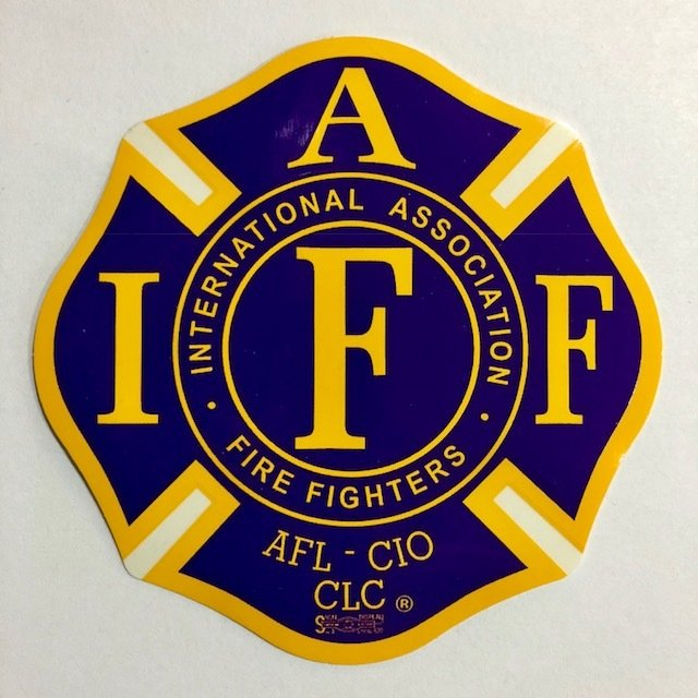 Vehicle Stickers IAFF Purple & Yellow
