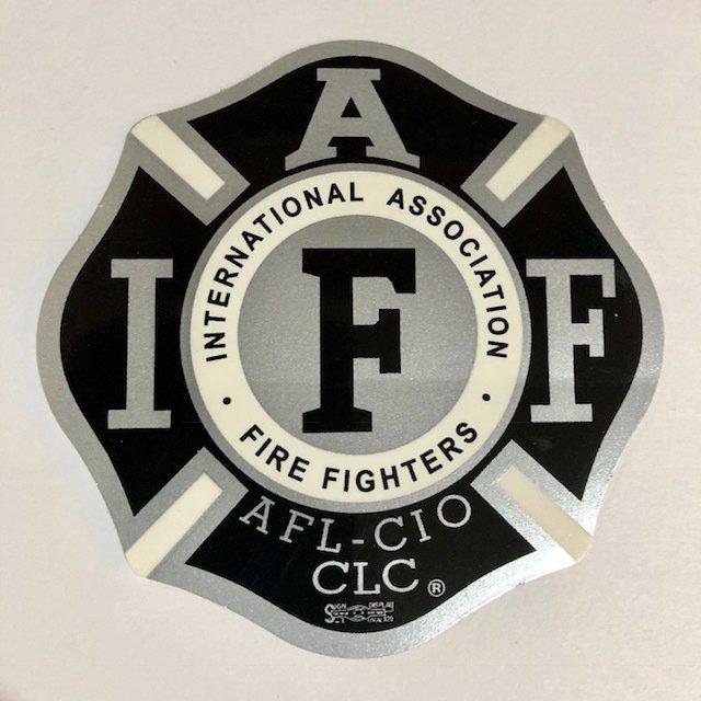 Vehicle Sticker IAFF Black & Silver