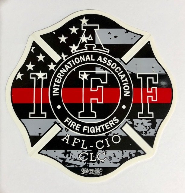 Vehicle Sticker IAFF USA Red Line