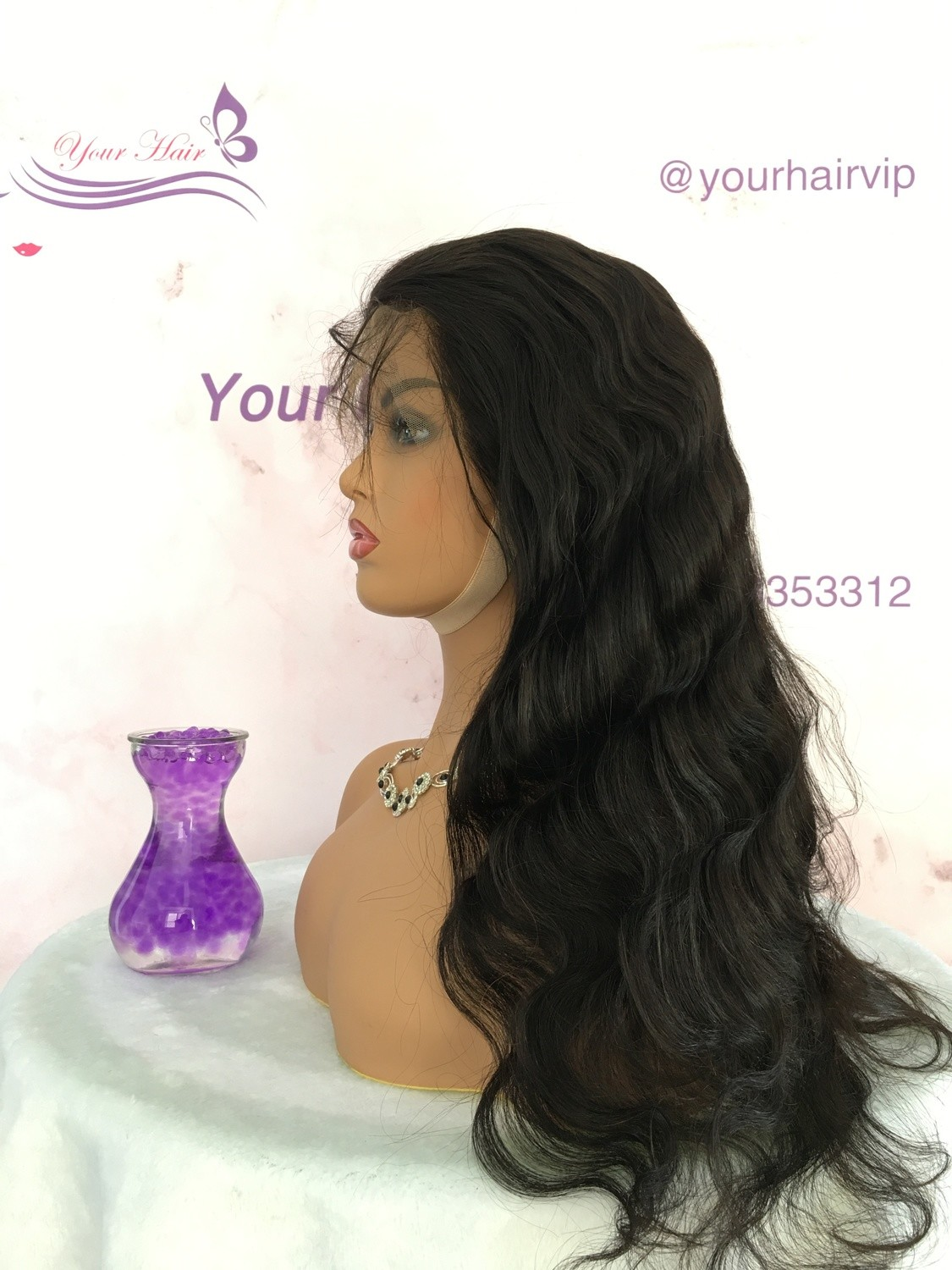 Transparent Lace Body Wave Full Lace Frontal 13*4 Wig Human Hair With Baby Hair Can be dyed