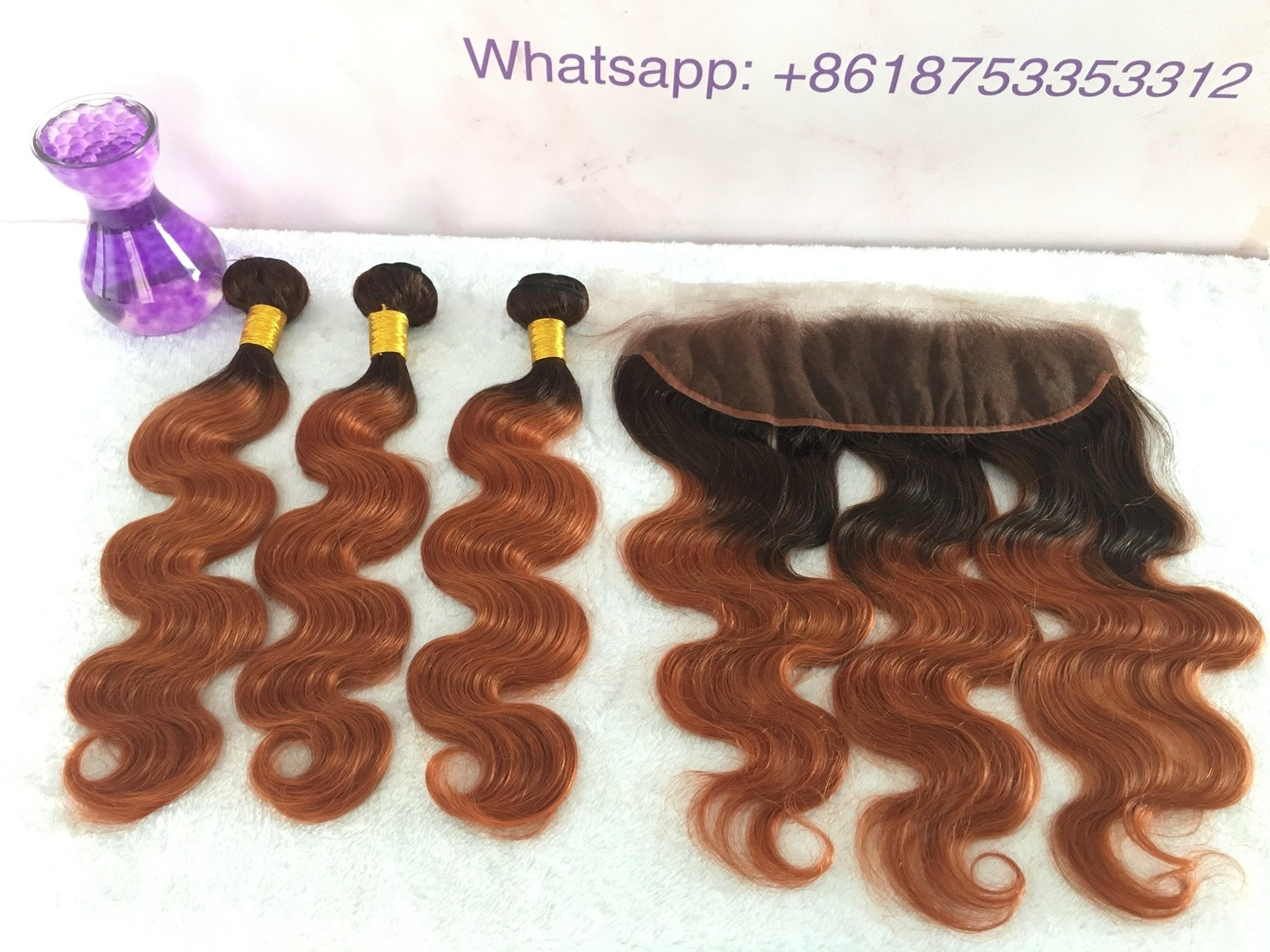 T4/30 Human Hair 3 Bundles with Frontal Body Wave All virgin hair
