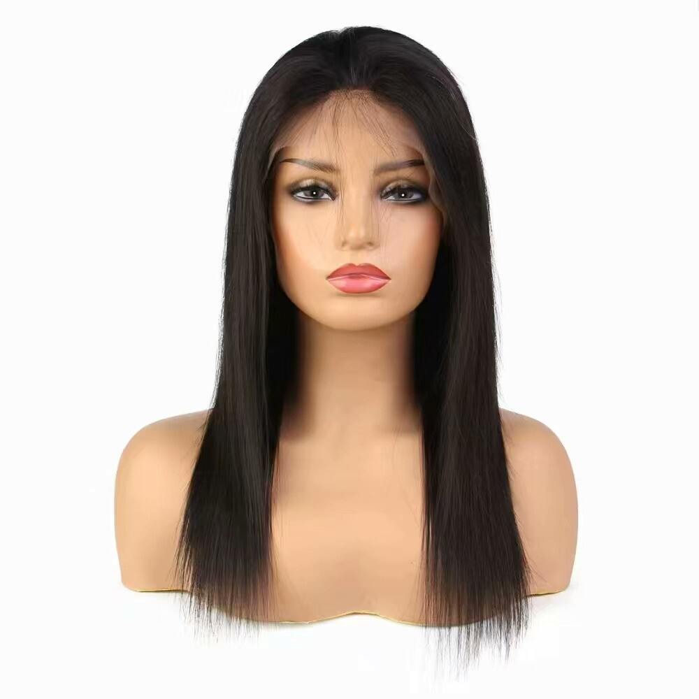 Straight Full Lace Frontal 13*4 Wig Human Hair with Baby Hair Can be dyed