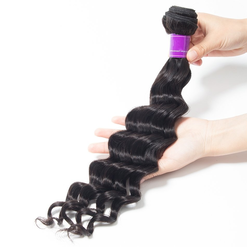 Loose Deep Wave Human Virgin Hair 1pc Bundle