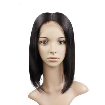 Popular Bob Full Lace Frontal 13*6 Wig Straight Virgin Human Hair 150% density can be dyed