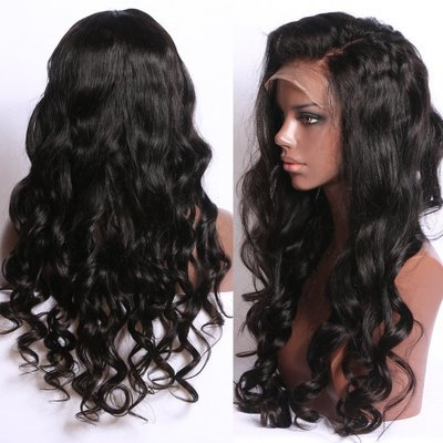 Loose Wave Full Lace Frontal 13*6 Wig Transparent lace Human Hair With Baby Hair Can be Dyed Free Shipping