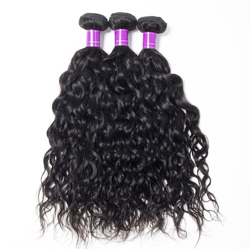 3PCS Mink Natural Wave Human Virgin Hair Bundles