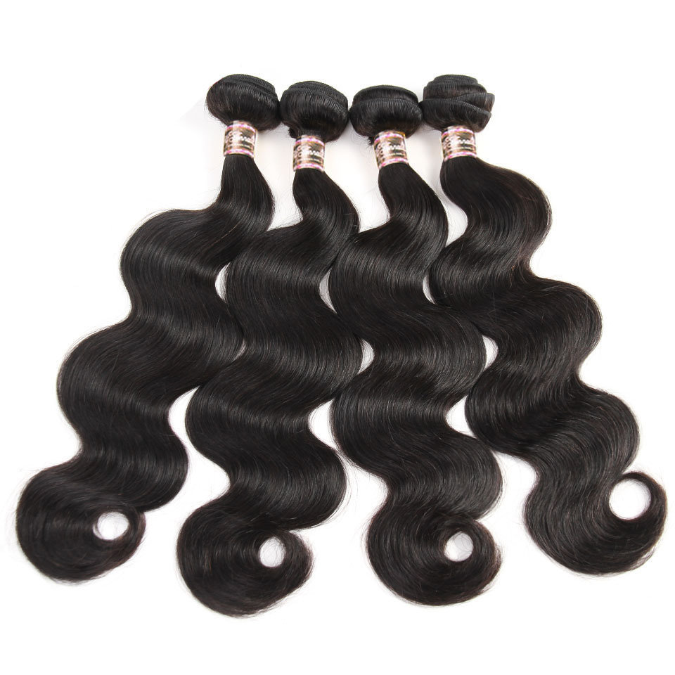 4 PCS Body Wave Unprocessed Human Hair Extension Bundles