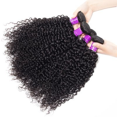 4 PCS  Italian Curly Unprocessed Human Hair Extension Bundles