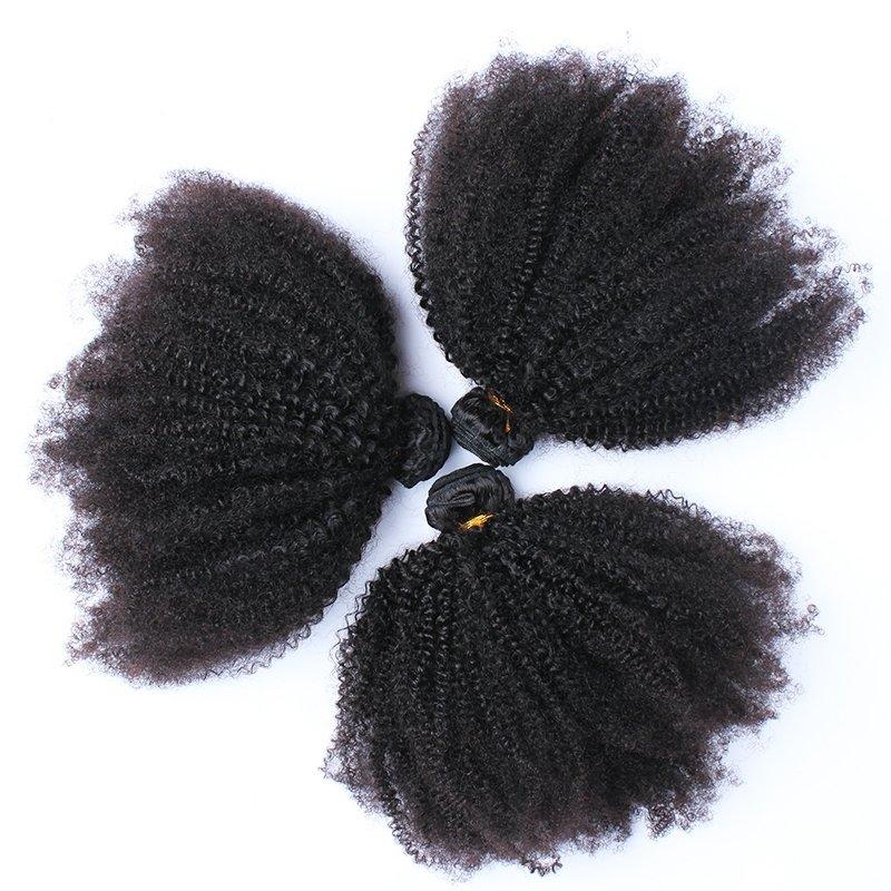 3PCS  Afro Kinky Curly Human Virgin Hair Bundles