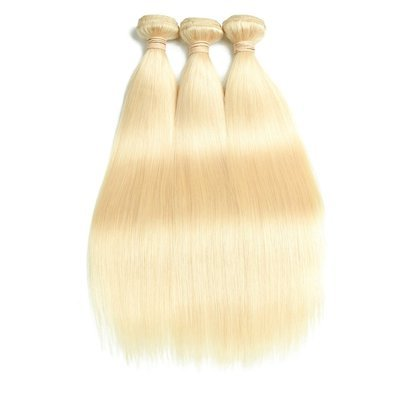 3PCS Straight Caucasian Blonde Human Hair Bundles can be dyed into light color