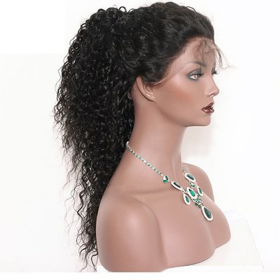 360 Lace Frontal Wig Deep Curly Pre Plucked Human Hair 150%-250% Density with Baby Hair