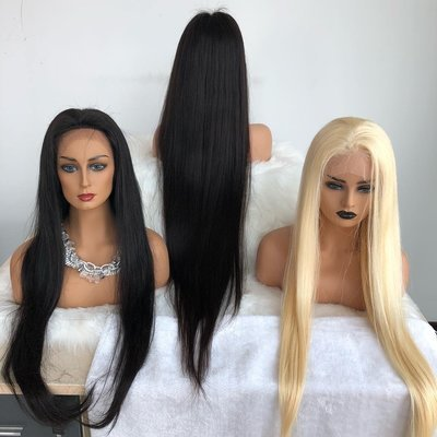 40 inch Long hair Full Lace Wig Virgin Human Hair can be Dyed