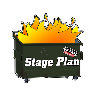 Dumpster Fire Stage Plan & GFDS Sticker