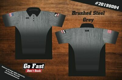 Brushed Steel - Button Down Polo