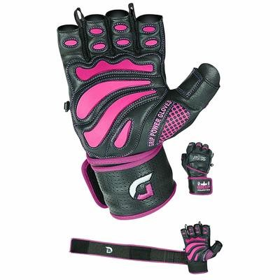 Women Elite Leather Gym Gloves with Built in 2