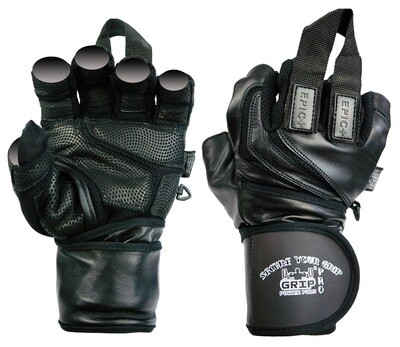 Epic Leather Gym Gloves with Built in 2