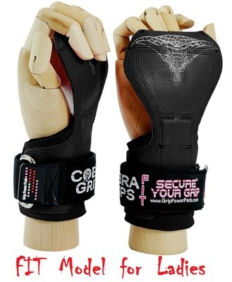 Cobra Grips FIT Black Rubber Weight Lifting Gloves
