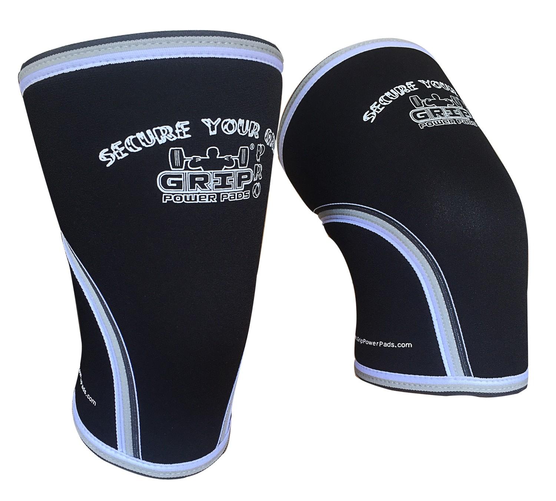 Compression 7mm Neoprene Knee Sleeves 1 Pair Gray