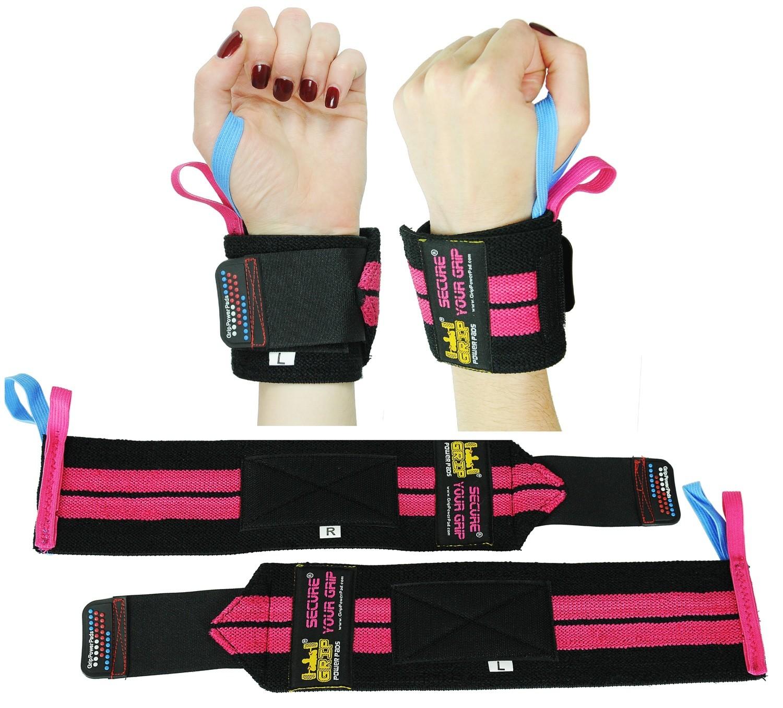 Deluxe Women's Wrist Wraps Pink (1 Pair/2 Wraps)