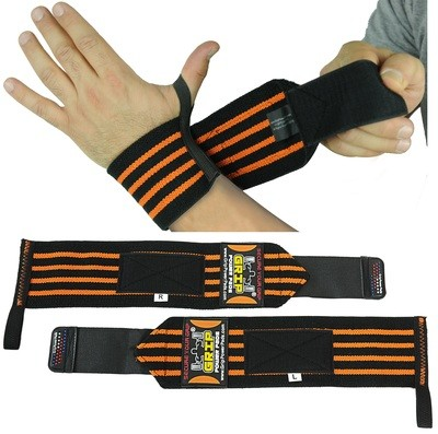 Deluxe Wrist Wraps 13 Inches  Long (1 Pair /2 Wraps) Cotton