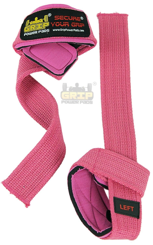 PINK WOMEN Classic Heavy Duty Neoprene Padded Weight Lifting Straps