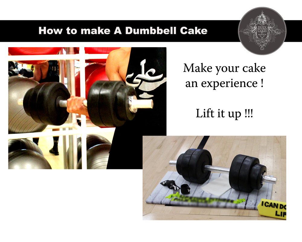 How to Make a Dumbbell Cake Tutorial PDF and Video ONLY