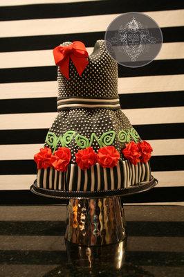 How To Make a Baby Dress Cake