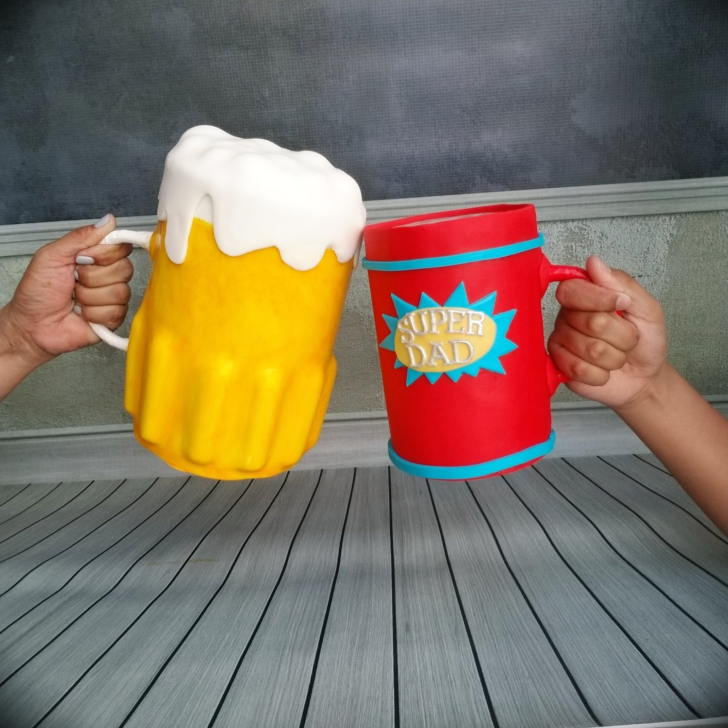 Beer Mug Cake TUTORIAL ONLY with Structure Alternative ( video, assembly photos, notes , templates)