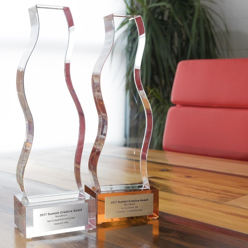 Bronze Crystal Trophy