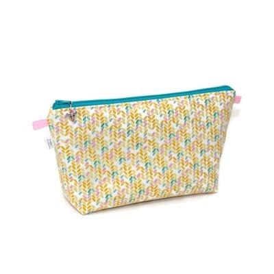 Knit Stitch in Peach - Large Wedge