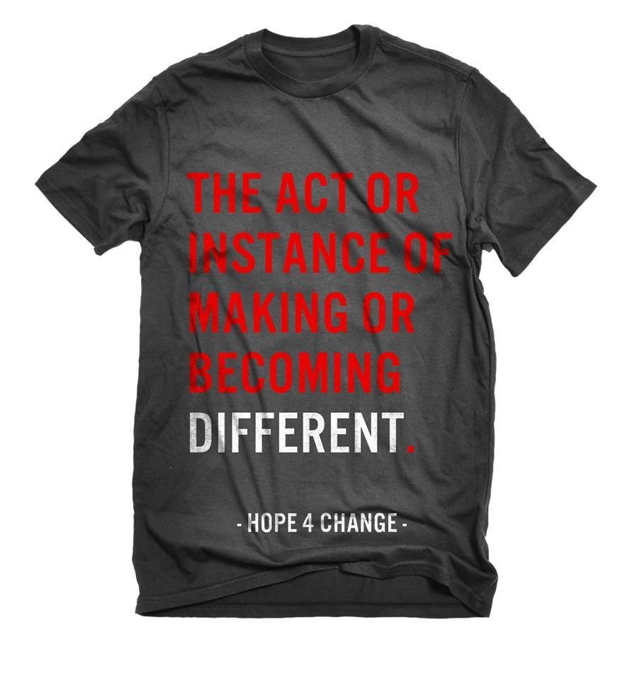 "Hope ""Different"" Branding T-shirts for Team"