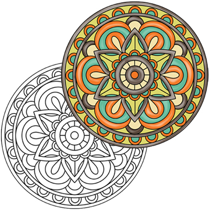 Mandala #1 Coloring Page
