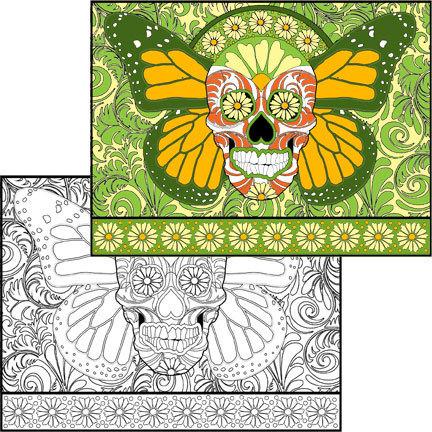 Sugar Skull #3 Coloring Page