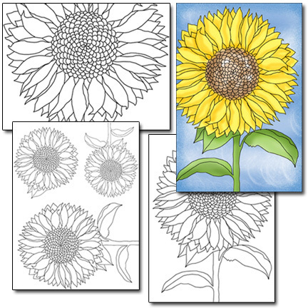 Sunflower Color & Collage Set