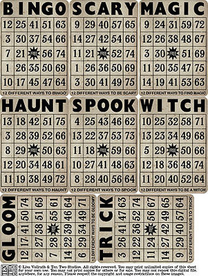 Spooky Bingo Cards