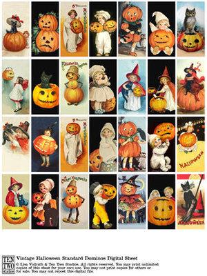 Vintage Halloween Standard Dominos