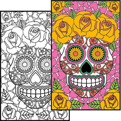 Sugar Skull #1 Coloring Page