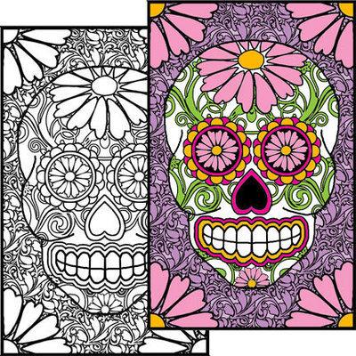 Sugar Skull #2 Coloring Page