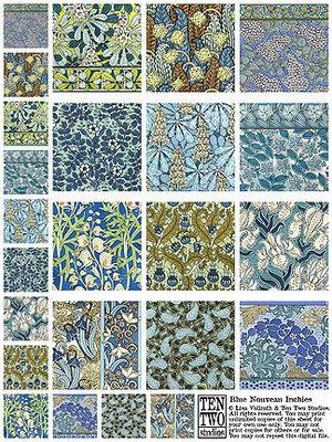 Blue Nouveau Inchies
