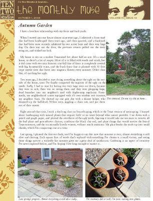 October – Autumn Garden