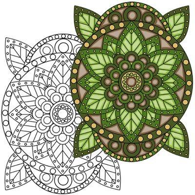 Mandala #2 Coloring Page
