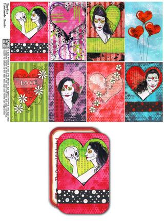 Tin-Sized Handmade Hearts
