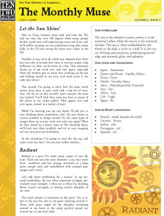 July – Let the Sun Shine