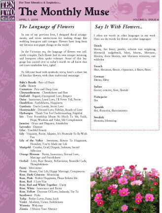April – The Language of Flowers