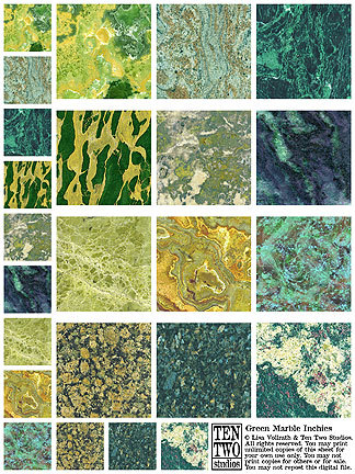 Green Marble Inchies