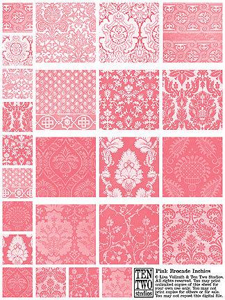 Pink Brocade Inchies