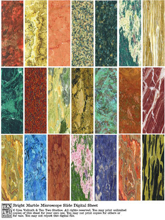 Bright Marble Microscope Slides