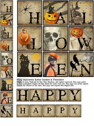 Halloween Inchie & Twinchie Banner