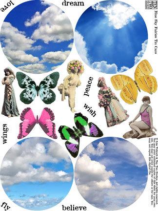 Blue Sky Fairies Tin Cans