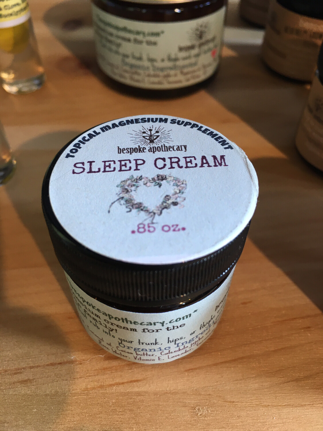 .85 oz. S L E E P * C R E A M - magnesium cream SAMPLE